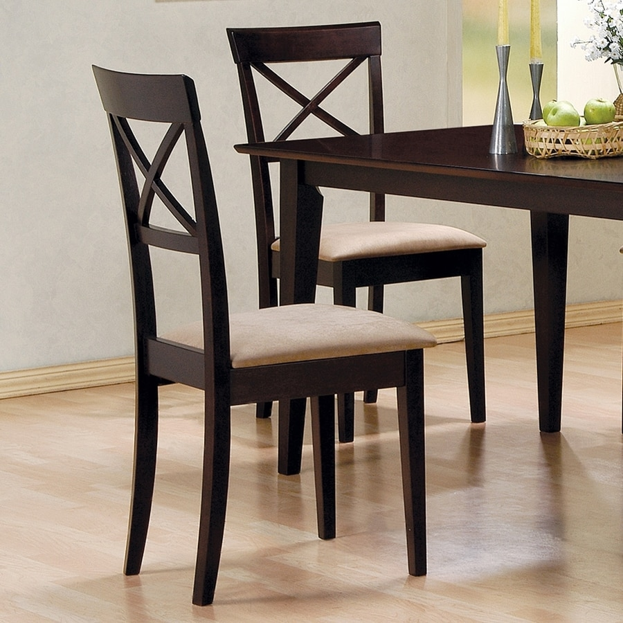Coaster Fine Furniture Set of 2 Mix and Match Casual Side Chairs