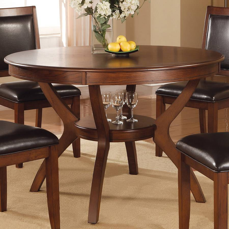 Shop coaster fine furniture nelms wood round dining table for Fine furniture