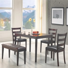 Coaster Fine Furniture Cappuccino Dark Brown 5 Piece Dining Set With Table