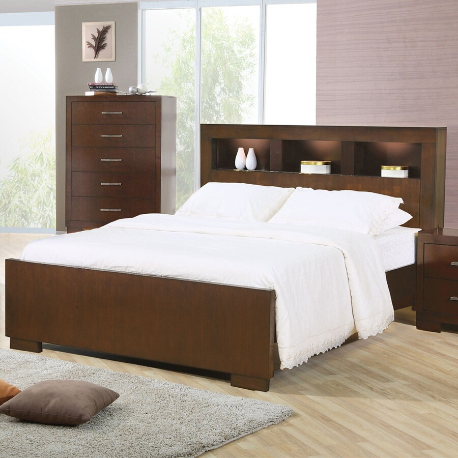 Coaster Fine Furniture Jessica Cappuccino Queen Platform Bed