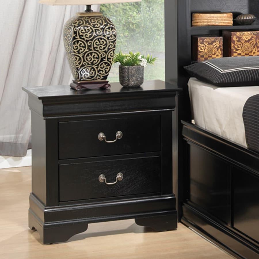 Coaster Fine Furniture Louis Philippe Black Nightstand