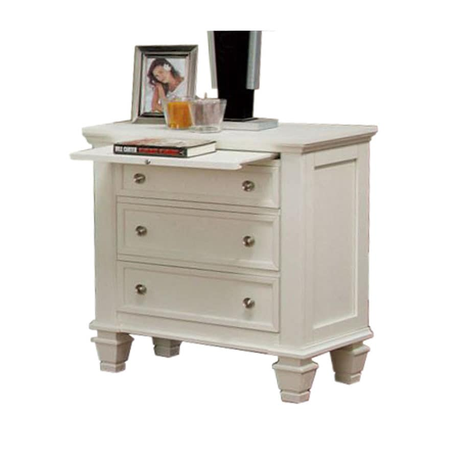 Shop Coaster Fine Furniture Sandy Beach White Nightstand