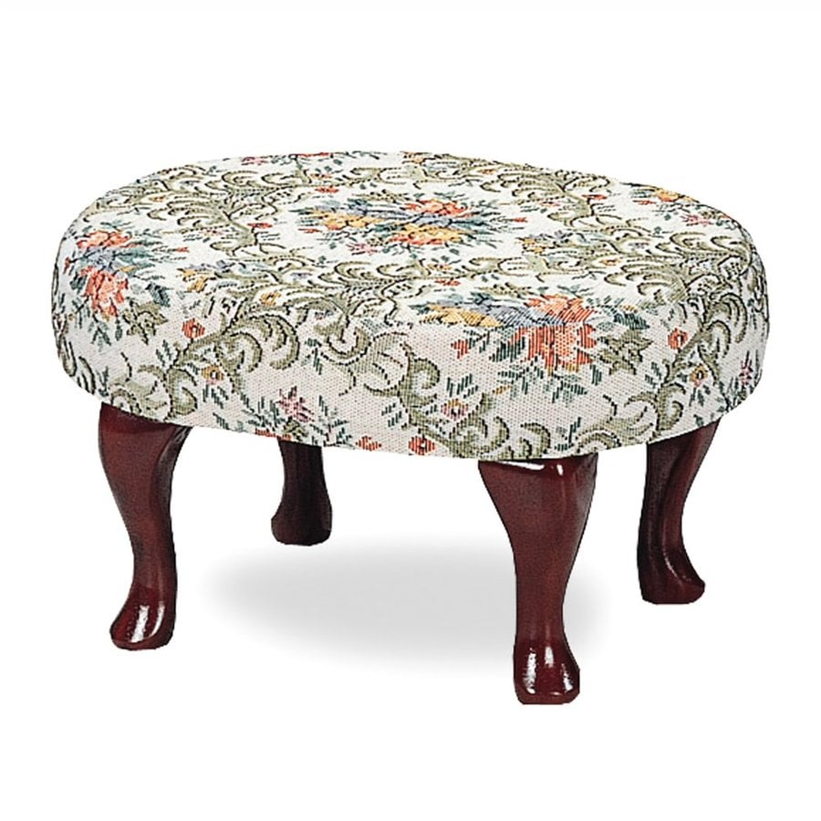 Coaster Fine Furniture Cherry Chenille Round Ottoman