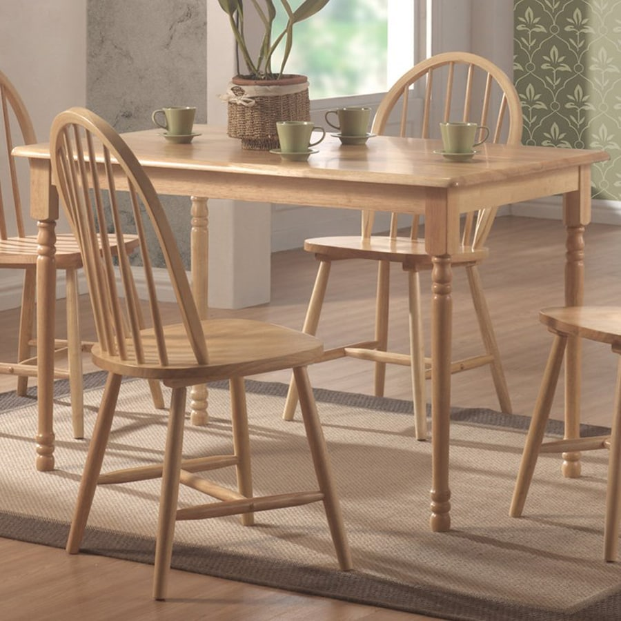 Coaster Fine Furniture Natural Rectangular Dining Table
