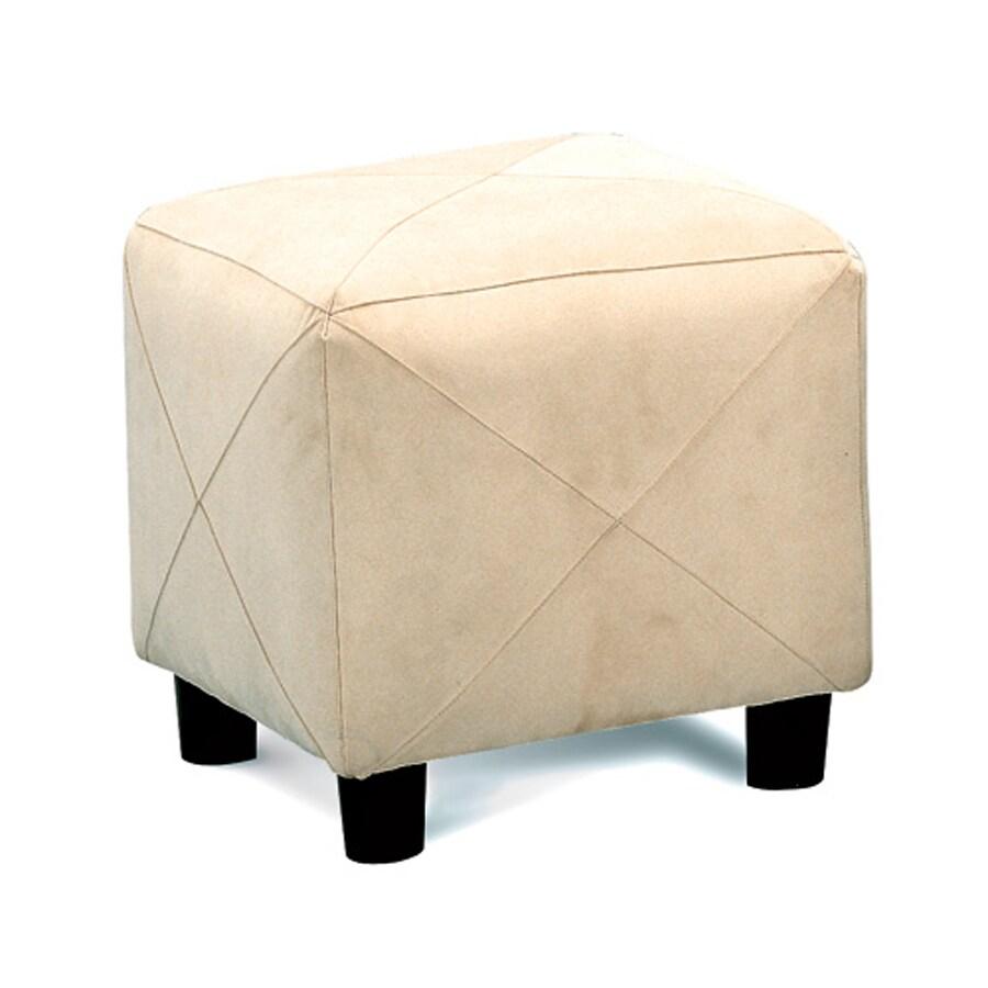 Coaster Fine Furniture Taupe Microfiber Ottoman