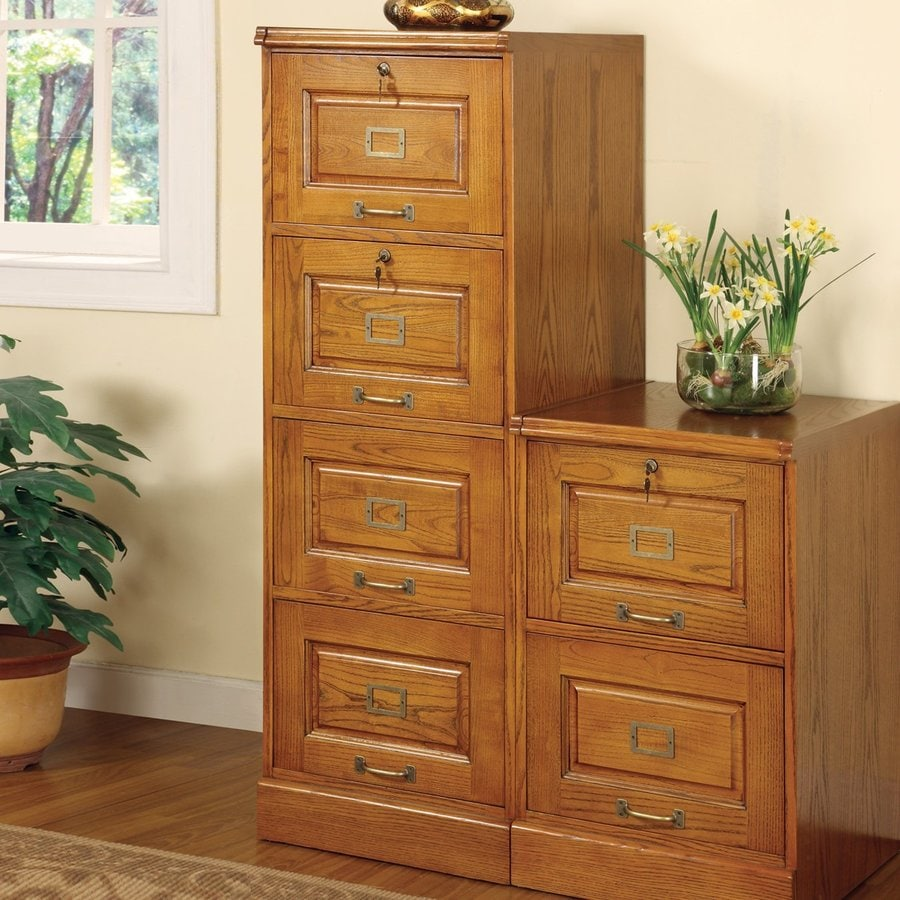 Coaster Fine Furniture Oak 4 Drawer File Cabinet