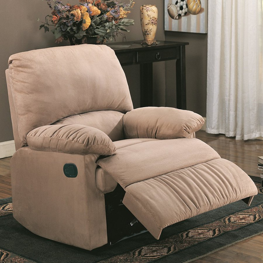 Coaster Fine Furniture Light Brown Microfiber Recliner