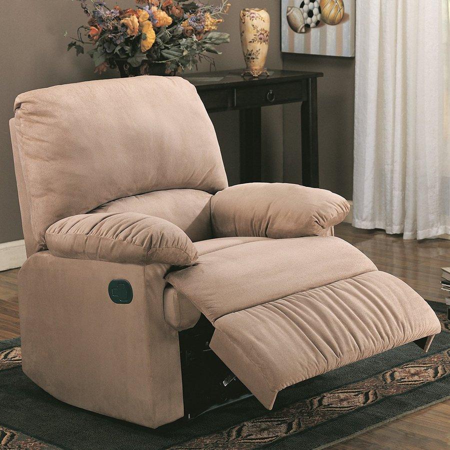Coaster Fine Furniture Light Brown Polyester Recliner