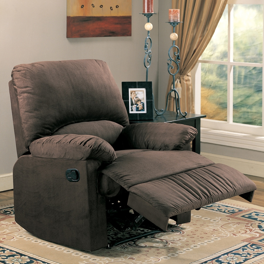 Coaster Fine Furniture Chocolate Microfiber Recliner & Shop Coaster Fine Furniture Chocolate Microfiber Recliner at Lowes.com islam-shia.org