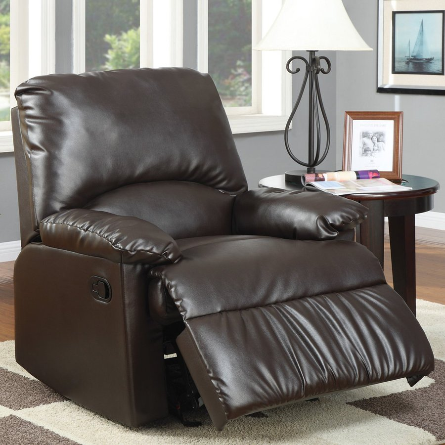 Coaster Fine Furniture Brown Vinyl Recliner
