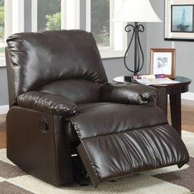 Coaster Fine Furniture Brown Vinyl Recliner