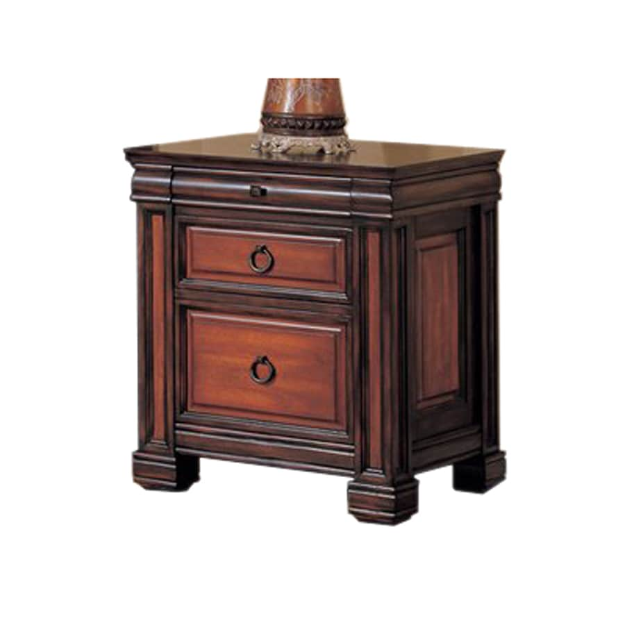 Shop coaster fine furniture tate black cherry 2 drawer for Cherry furniture