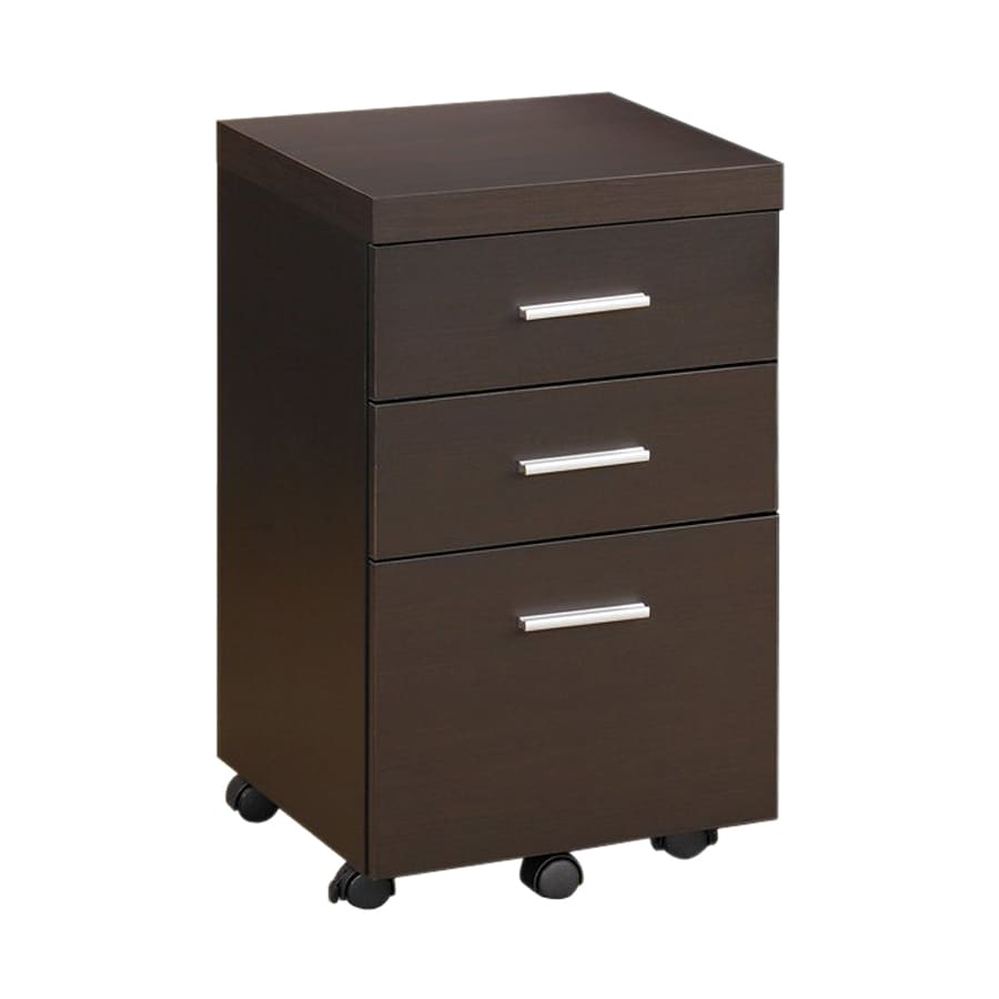Coaster Fine Furniture Cappuccino 3-Drawer File Cabinet