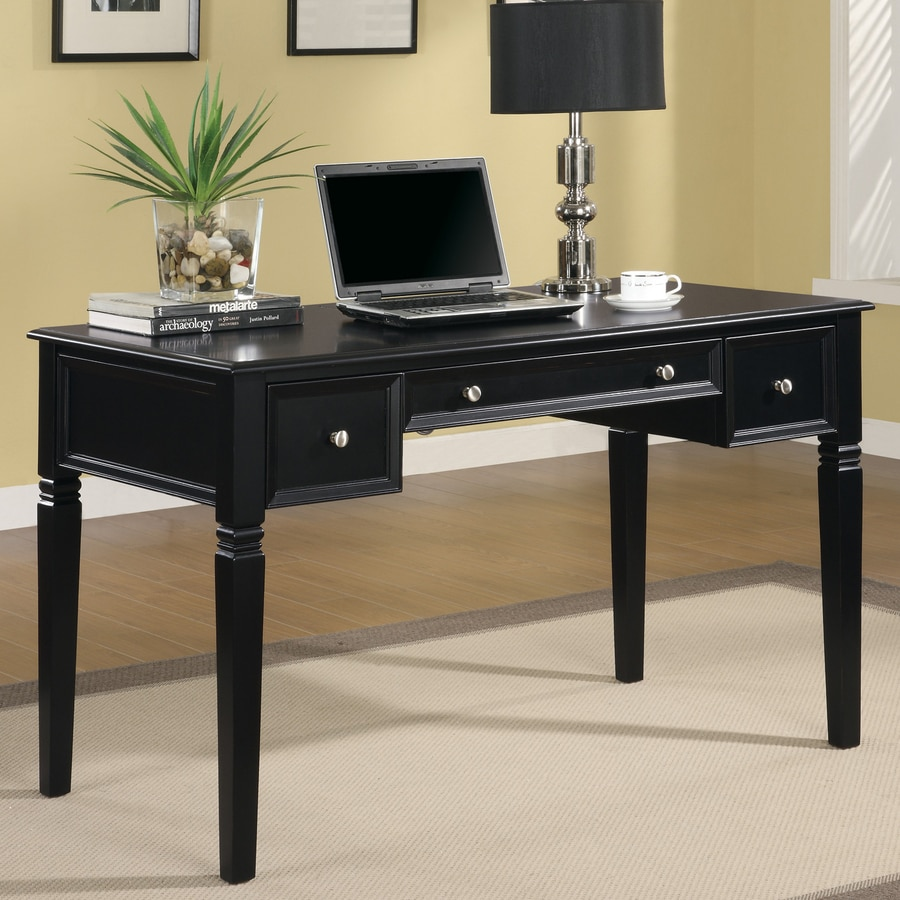 coaster fine furniture transitional black writing desk - Black Writing Desk