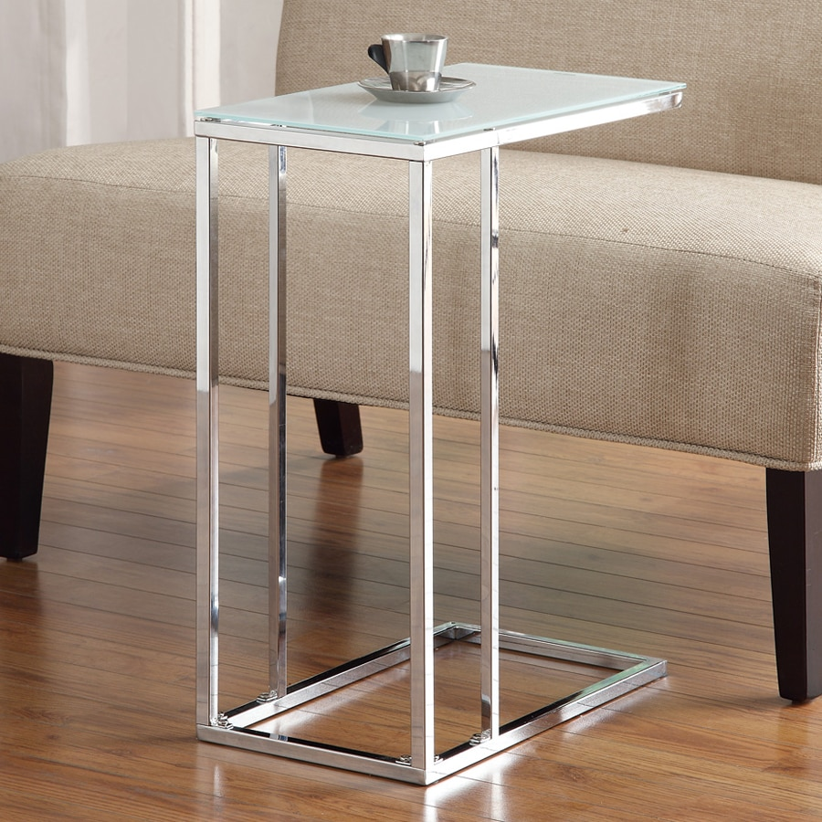 Coaster Fine Furniture Chrome Glass Modern End Table At