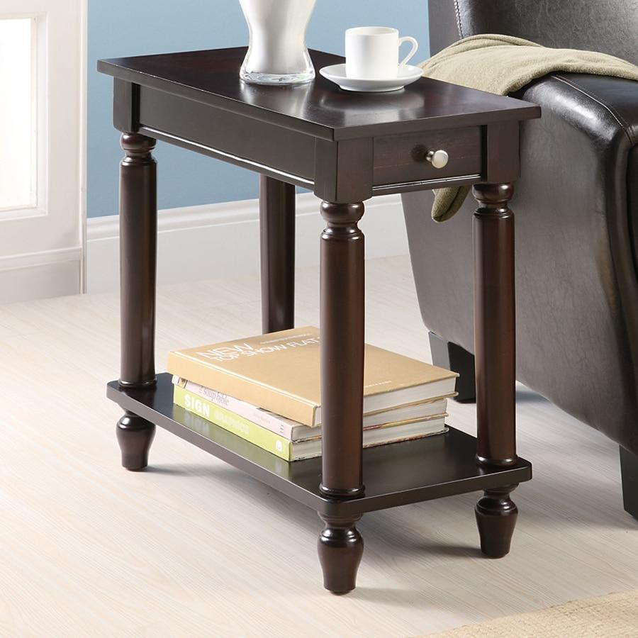 Coaster Fine Furniture Cappuccino Poplar Rectangular End Table