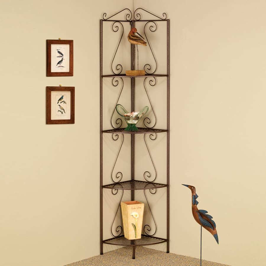 Coaster Fine Furniture Copper 19.5-in W x 70.5-in H x 15-in D 4-Shelf Bookcase
