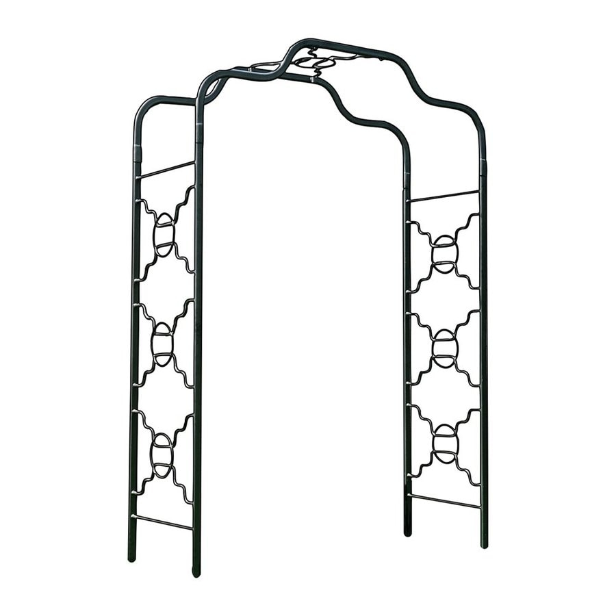 ACHLA Designs Bows and Circles Graphite Garden Arbor