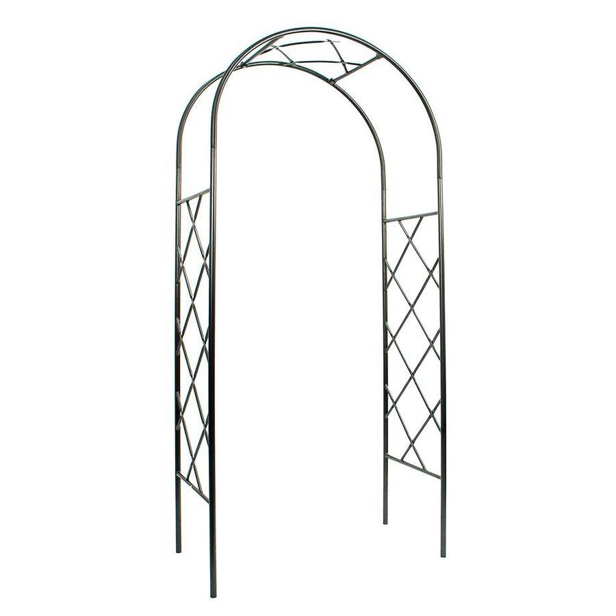 ACHLA Designs Lattice Graphite Garden Arbor