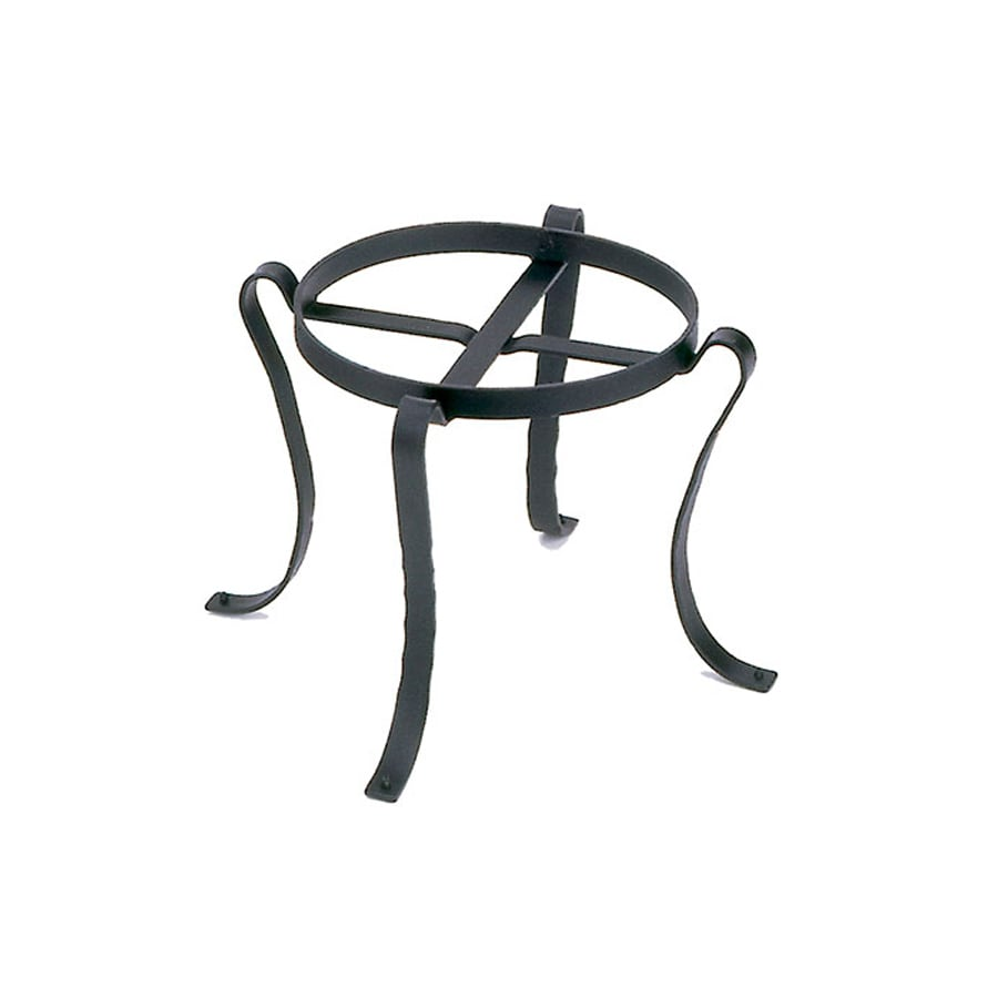 ACHLA Designs 11.75-in Black Indoor/Outdoor Round Wrought Iron Plant Stand