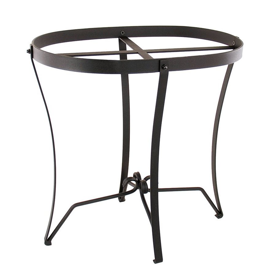 ACHLA Designs 18-in Black Indoor/Outdoor Oval Wrought Iron Plant Stand