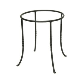 Achla Designs 14 In Black Indoor Outdoor Round Wrought Iron Plant Stand