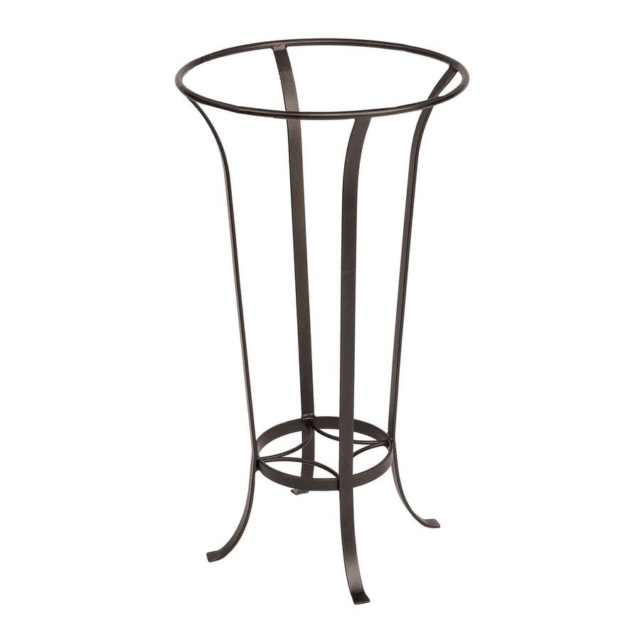 ACHLA Designs Tulip 28-in Roman Bronze Indoor/Outdoor Round Wrought Iron Plant Stand