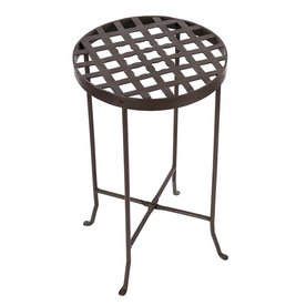 Achla Designs Flowers 24 75 In Roman Bronze Indoor Outdoor Round Wrought Iron Plant Stand