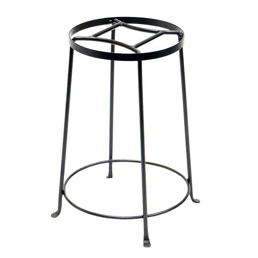 ACHLA Designs Argyle 18-in Graphite Indoor/Outdoor Round Wrought Iron Plant Stand