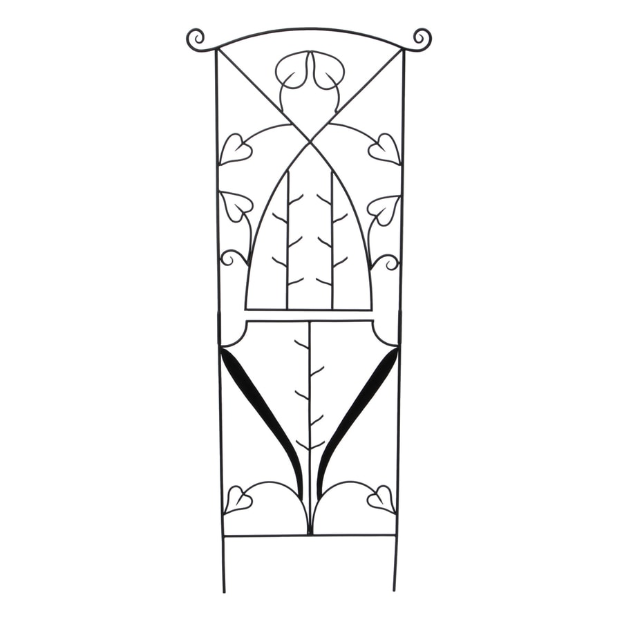 ACHLA Designs Jardiniere 27.75-in W x 86-in H Black Garden Trellis