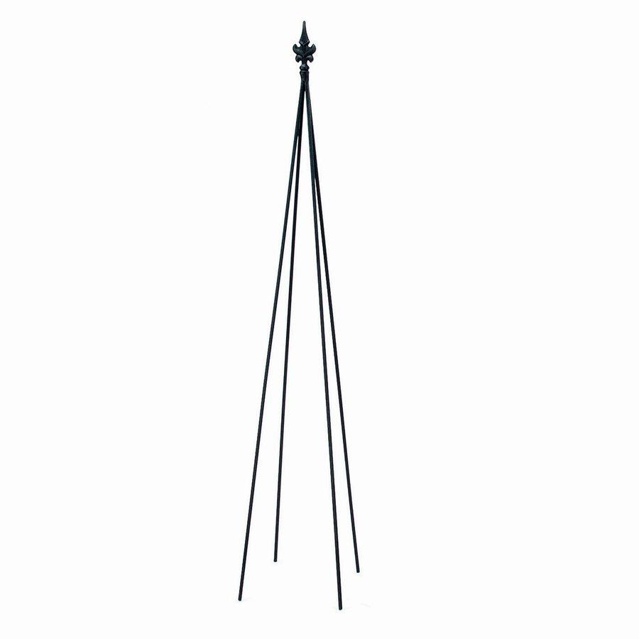 ACHLA Designs Fleur-De-Lis 8-in W x 58-in H Black Finial Garden Trellis
