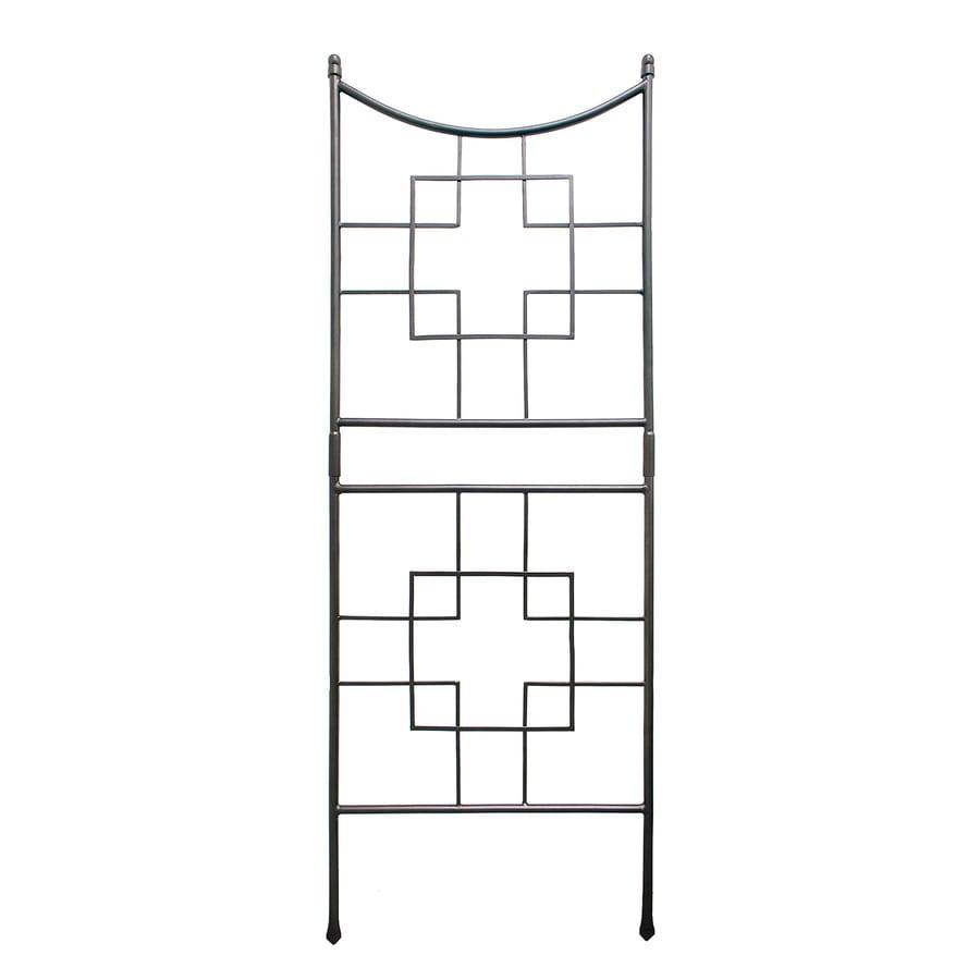 ACHLA Designs Square-On-Squares 31.5-in W x 86-in H Graphite Garden Trellis