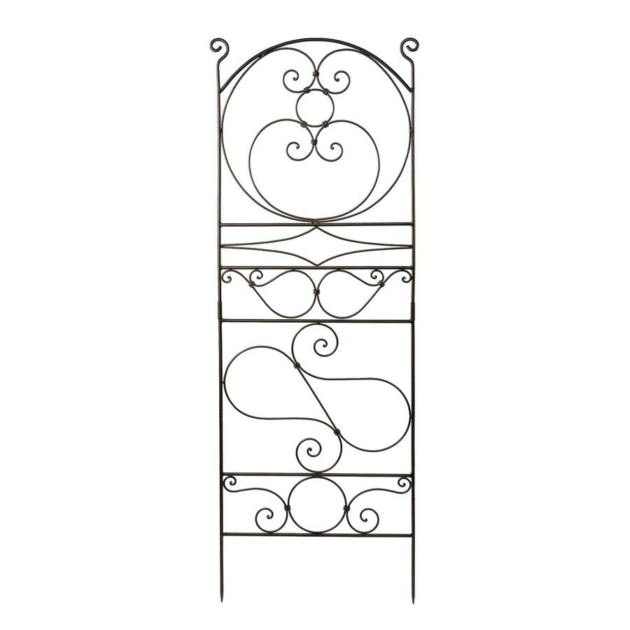 ACHLA Designs Ferro Firenze 22-in W x 65.5-in H Roman Bronze Scroll Garden Trellis
