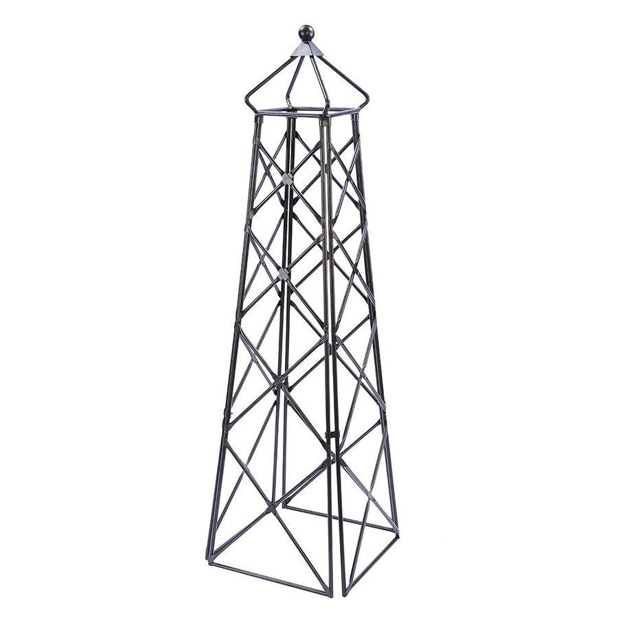 ACHLA Designs Lattice Obelisk 20-in W x 67-in H Graphite Garden Trellis