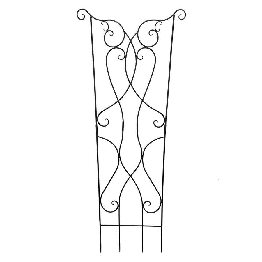 ACHLA Designs Rococo 36-in W x 86-in H Graphite Scroll Garden Trellis