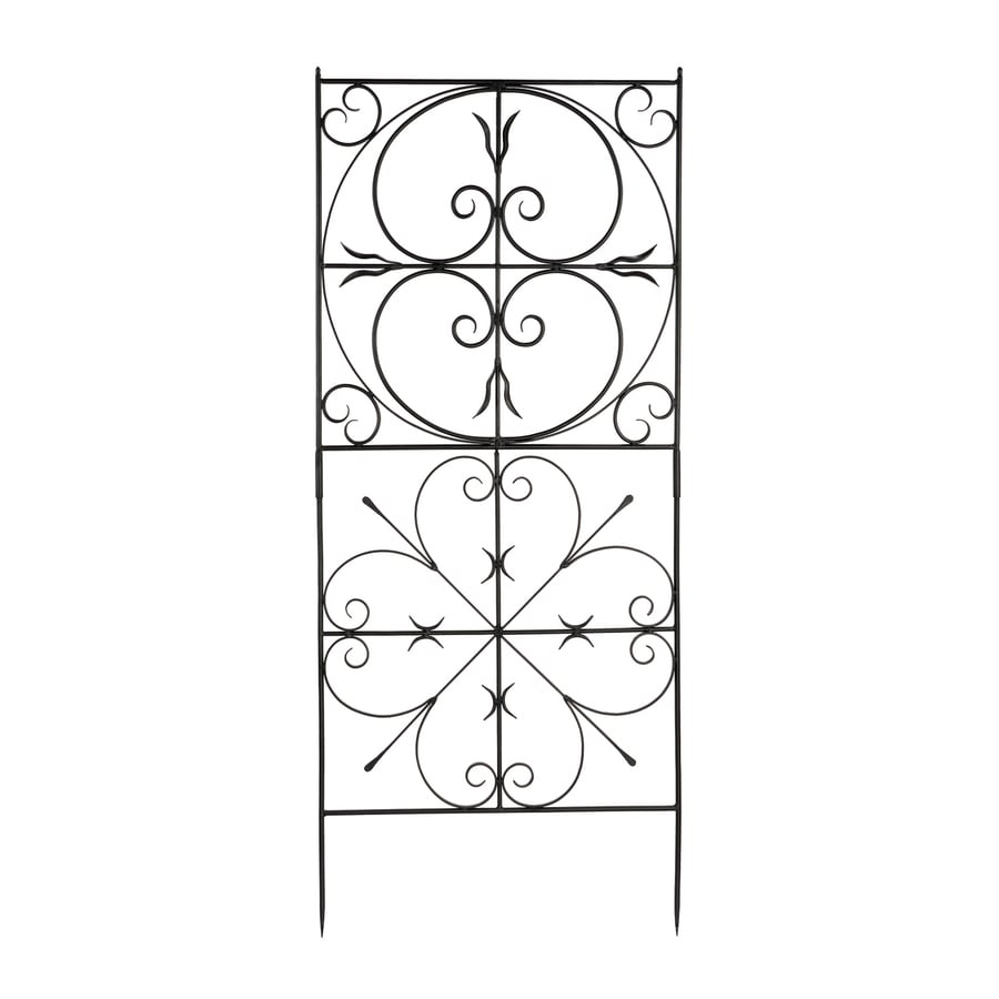 ACHLA Designs Aldrich 31.5-in W x 75-in H Graphite Scroll Garden Trellis