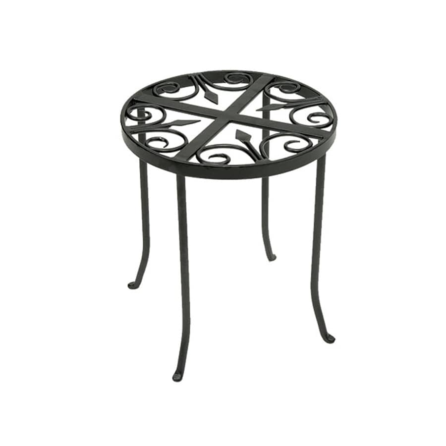 shop achla designs round trivet 14 in graphite indoor outdoor round wrought iron plant stand at. Black Bedroom Furniture Sets. Home Design Ideas