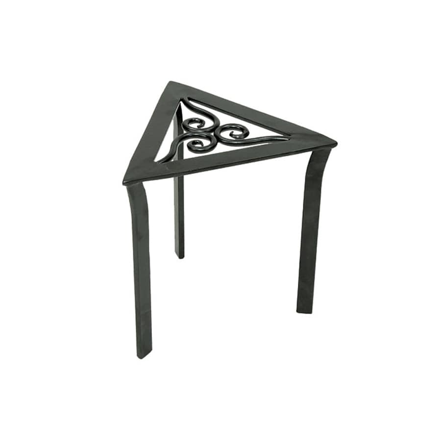 achla designs triangular trivet 12 in graphite indooroutdoor triangle wrought iron plant stand achla designs wrought iron