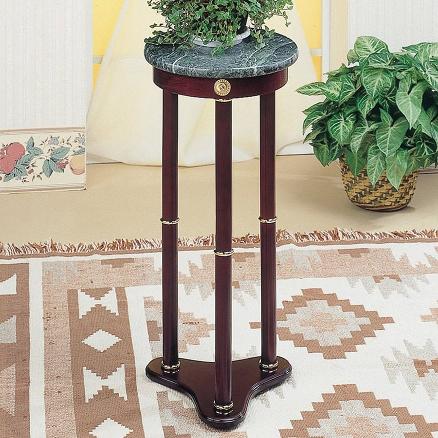 Shop coaster fine furniture 30 in cherry indoor round Plant stands for indoors