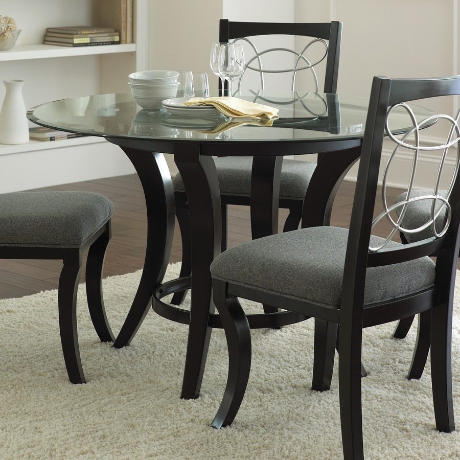 Shop steve silver company cayman black round dining table for Black round dining table
