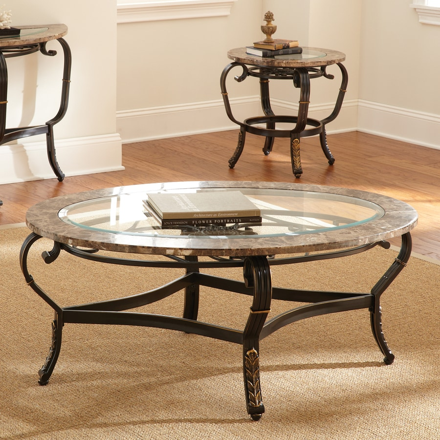 Steve Silver Company Gallinari Glass Coffee Table