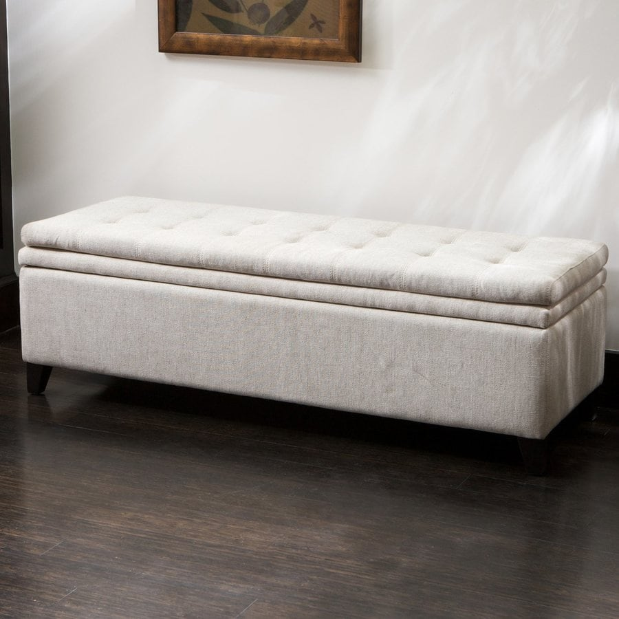 shop best selling home decor brighton white ottoman at