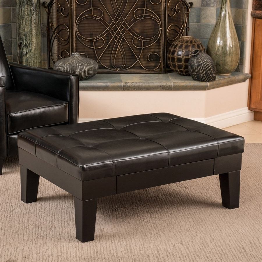 Best Selling Home Decor Chatham Espresso Rectangle Storage Ottoman