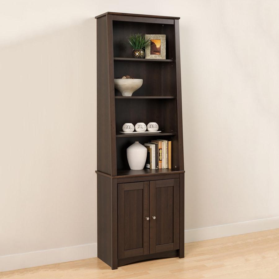 Shop Prepac Furniture Espresso 6shelf Bookcase At Lowescom