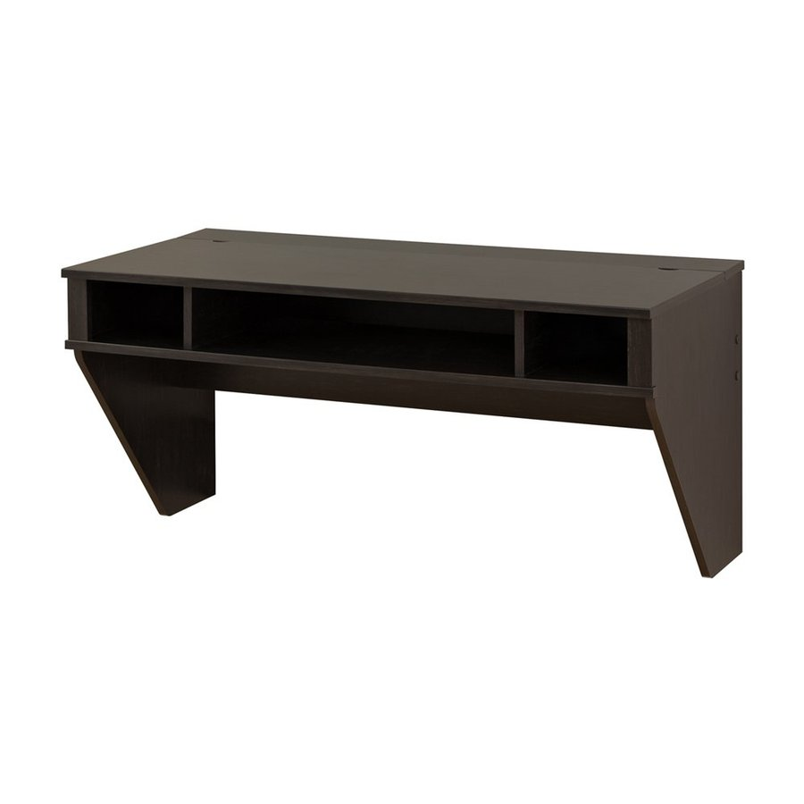 Prepac Furniture Designer Washed Ebony Wall-Mounted Desk