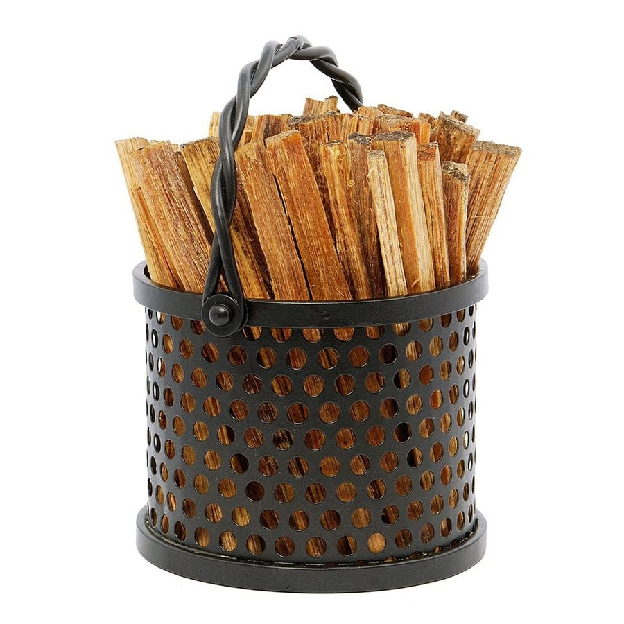 ACHLA Designs 5.5-in x 6.75-in x 5.5-in Wrought Iron Log Bin