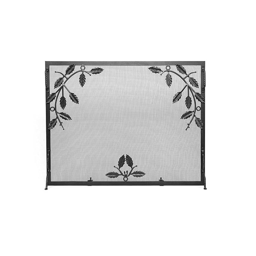 ACHLA Designs 30-in Graphite Iron Flat Fireplace Screen