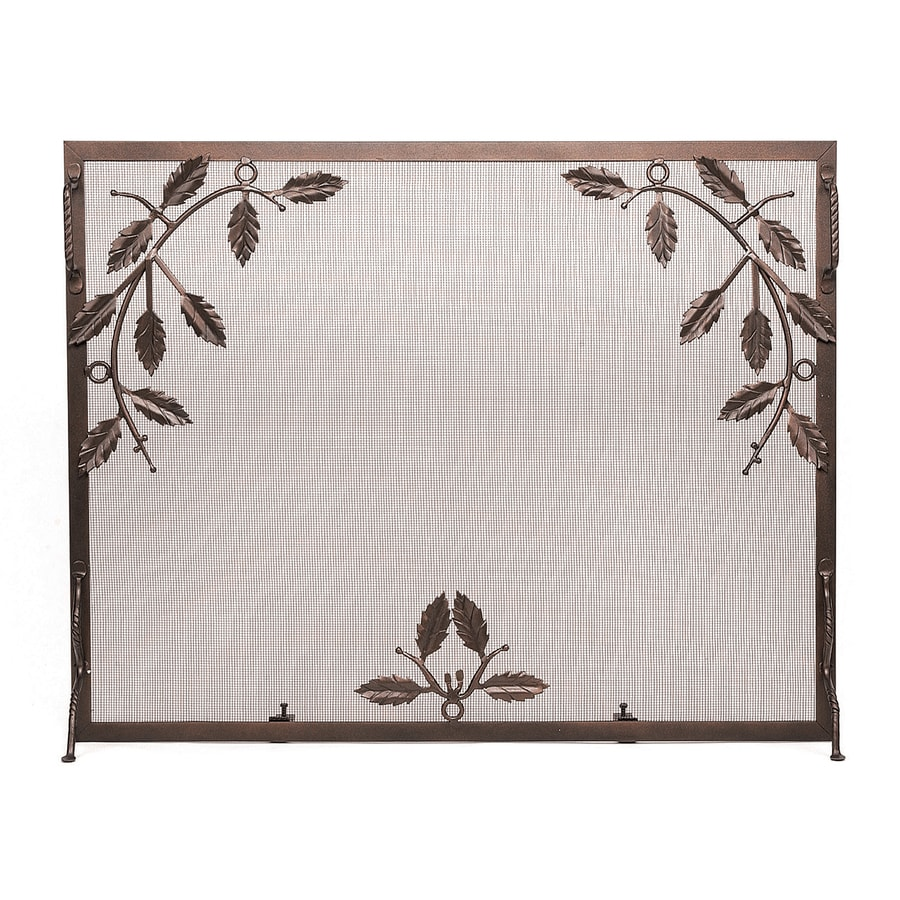 designs 30 in roman bronze iron flat fireplace screen at