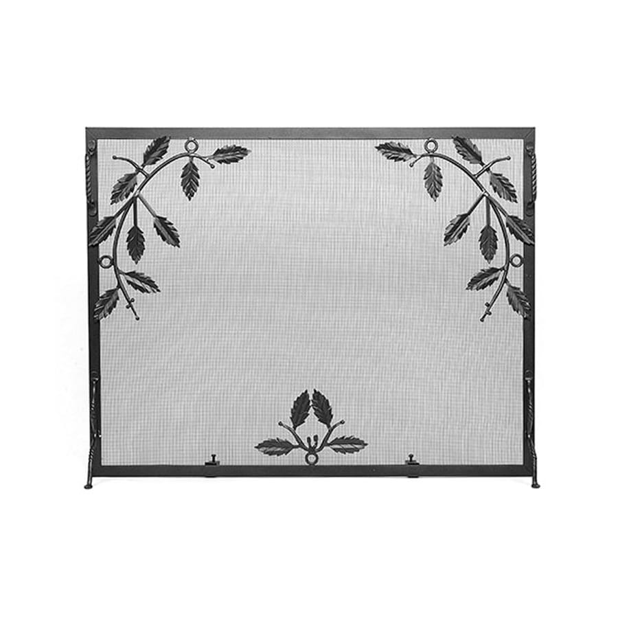 achla designs 33 in graphite iron flat fireplace screen at