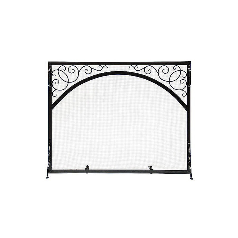 Shop ACHLA Designs 30-in Graphite Iron Scroll Fireplace Screen at ...